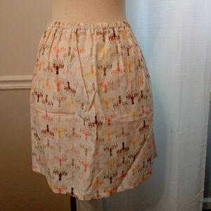 Cute vintage like chandelier print skirt small